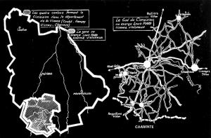Les quatre cantons formant le Civraisien dans le département de la Vienne (Couhé – Gençay – Civray – Charroux) Le sud du Civraisien où exerça Louis PIARD comme violoneux.